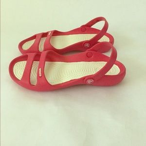 CROCS Hot Pink Strappy Sandals